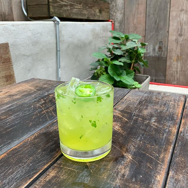 Let's pick up where we left off from cinco de mayo.  Join us for happy hour from 5-8pm & try the Escobar. It's 🌶 😃!!! And don't forget its Monday wing night.  Half off our spicy buffalo wings. #gardenopen #emblemgarden #beergarden
