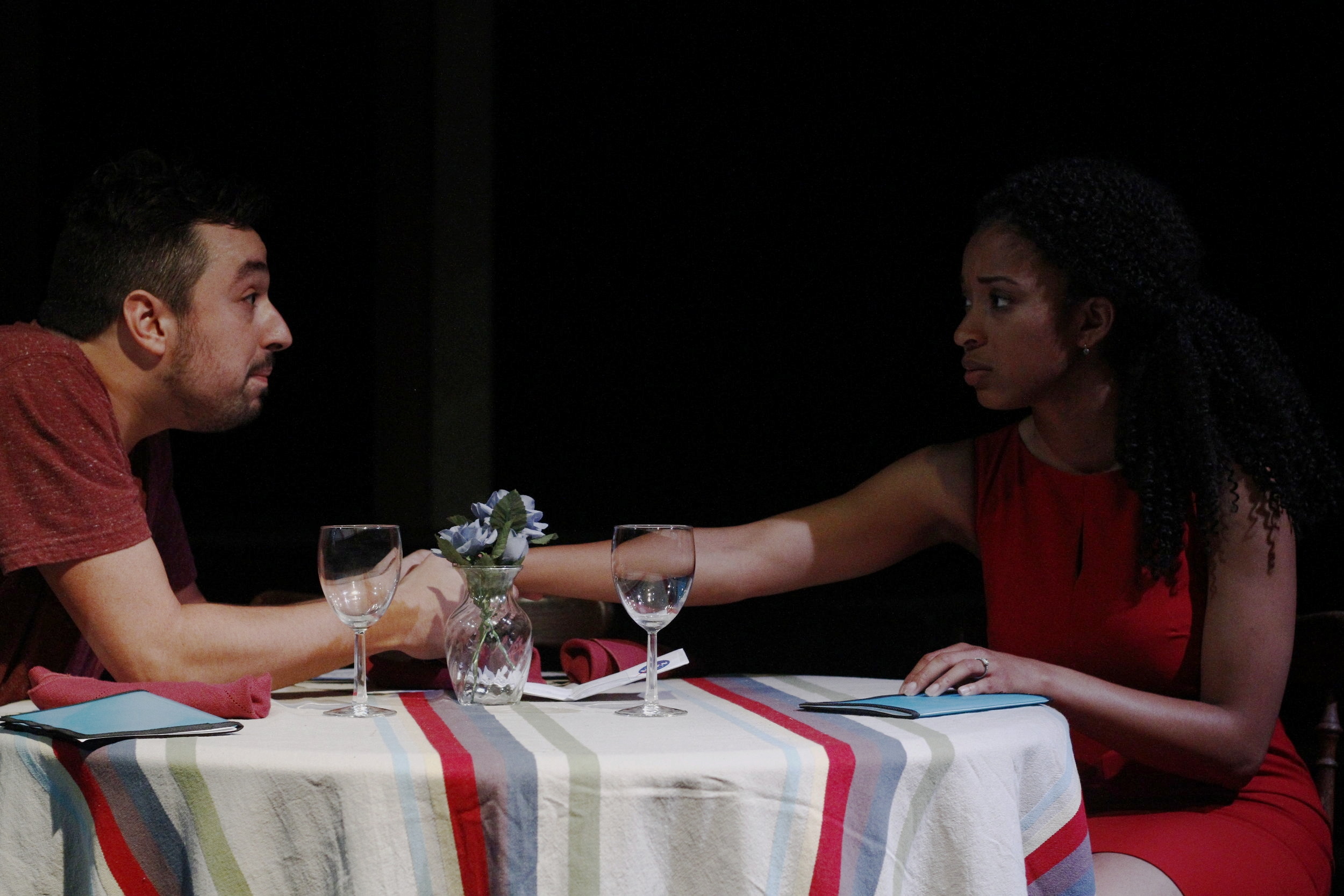 "Ethyn Gutierrez and Kia Dorsey in ""A Dip in the Pool"" by Jenny Clyde"