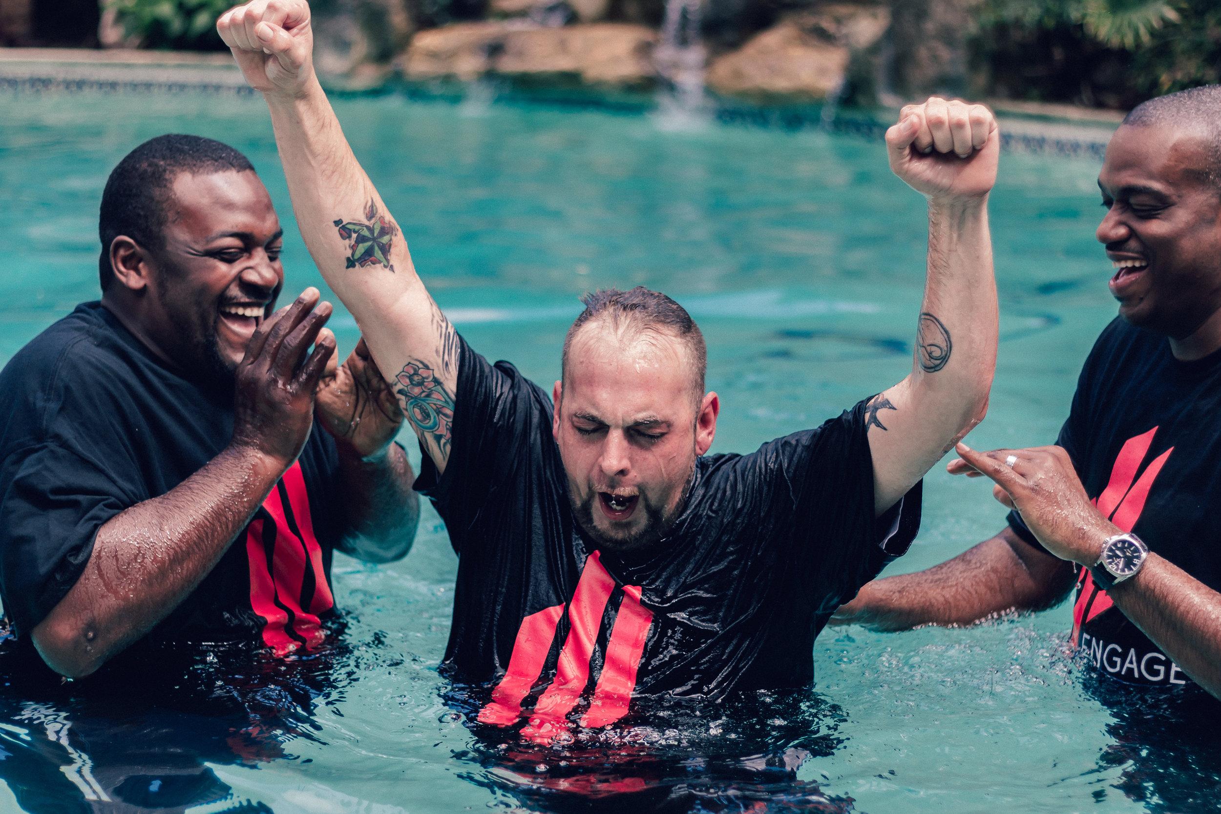 Paul baptized at Engage Church
