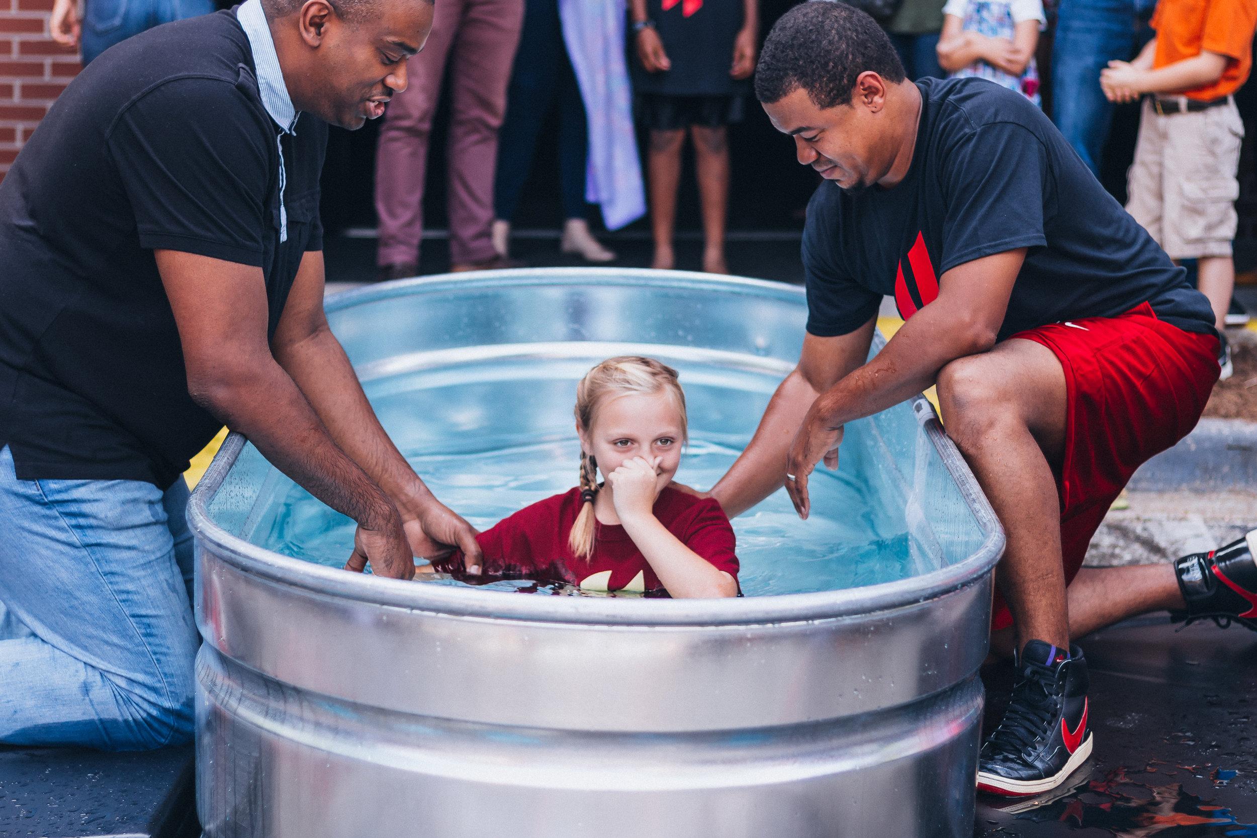 Paul's daughter, Payton, baptized at Engage Church