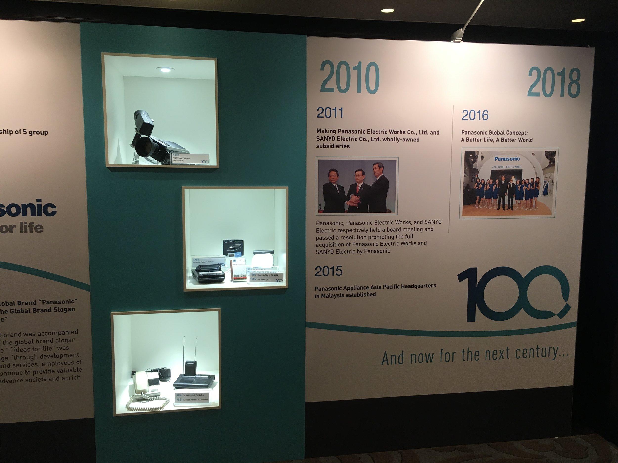 Panasonic Centenary History Wall