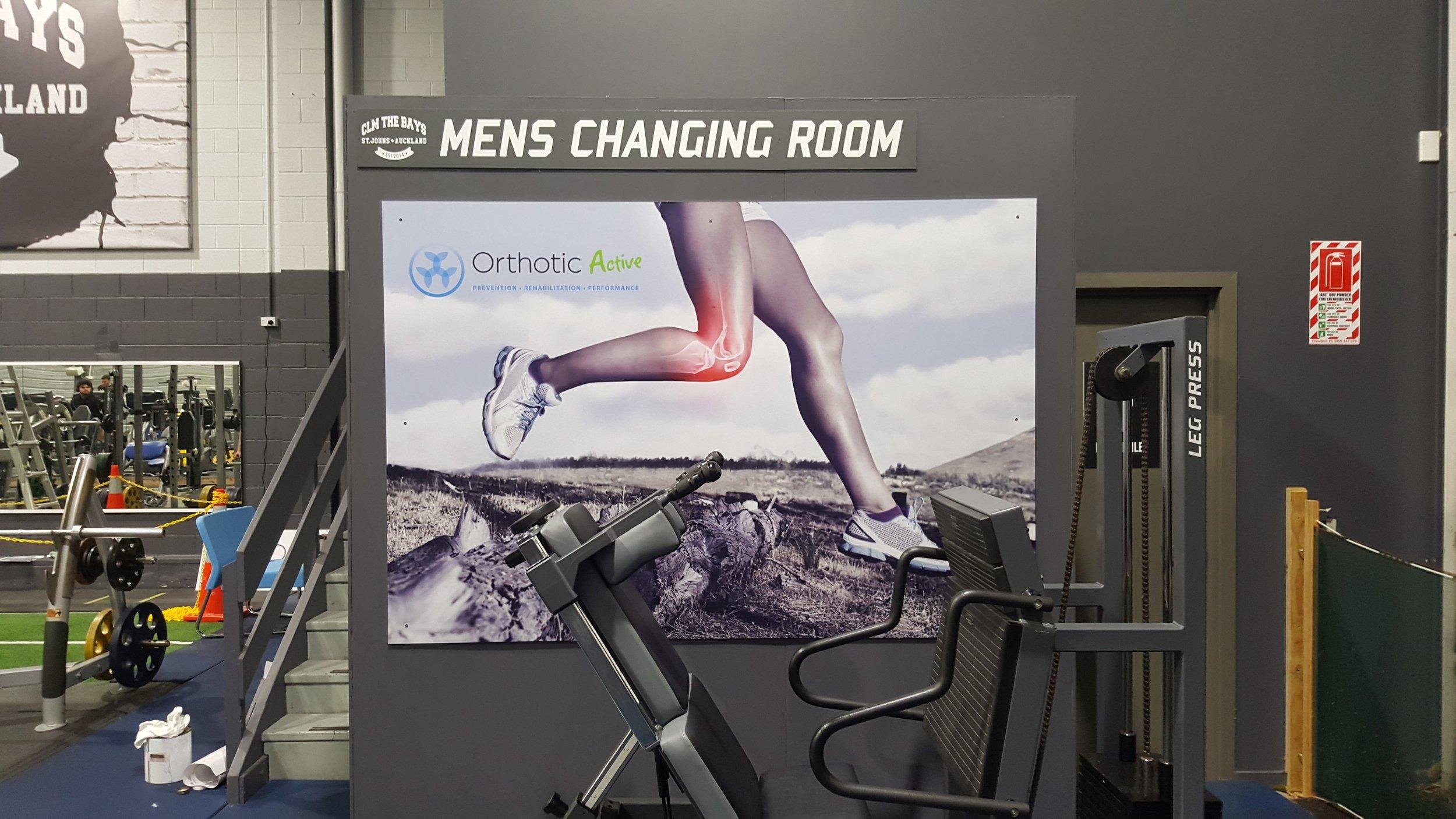 Orthotic Active Gym Signage