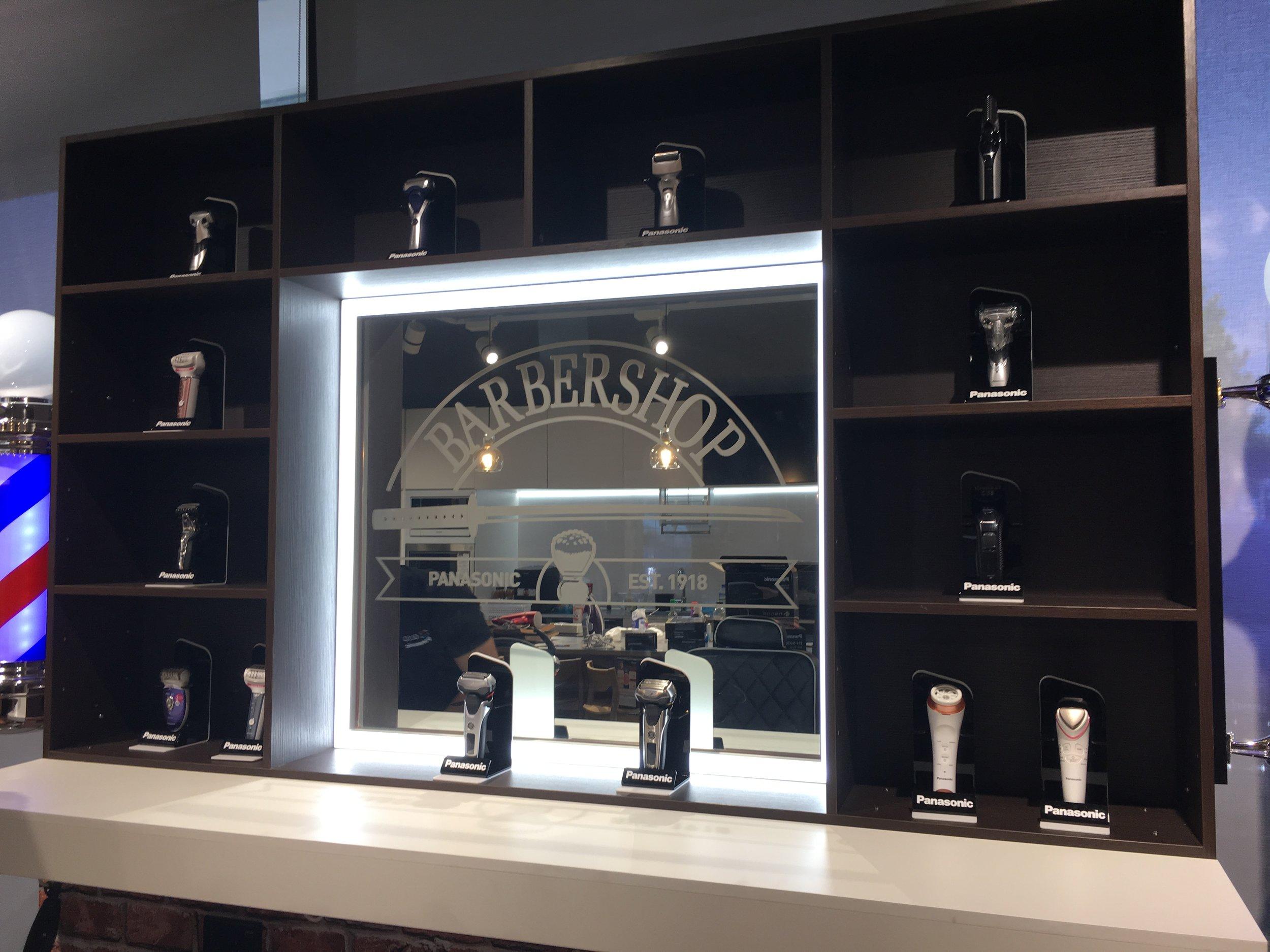 Panasonic Barber's Shop Display Stand
