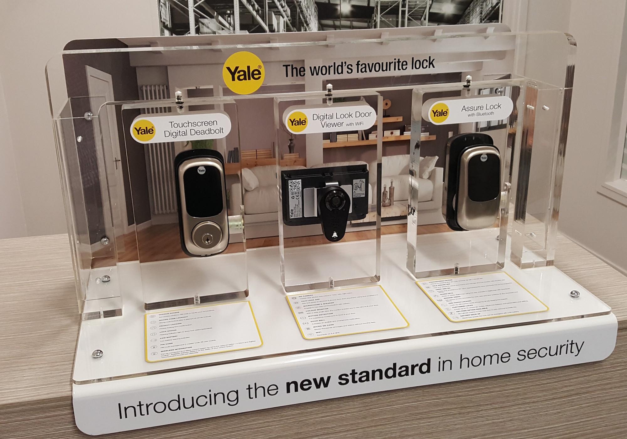 Yale Custom Built Lock Display