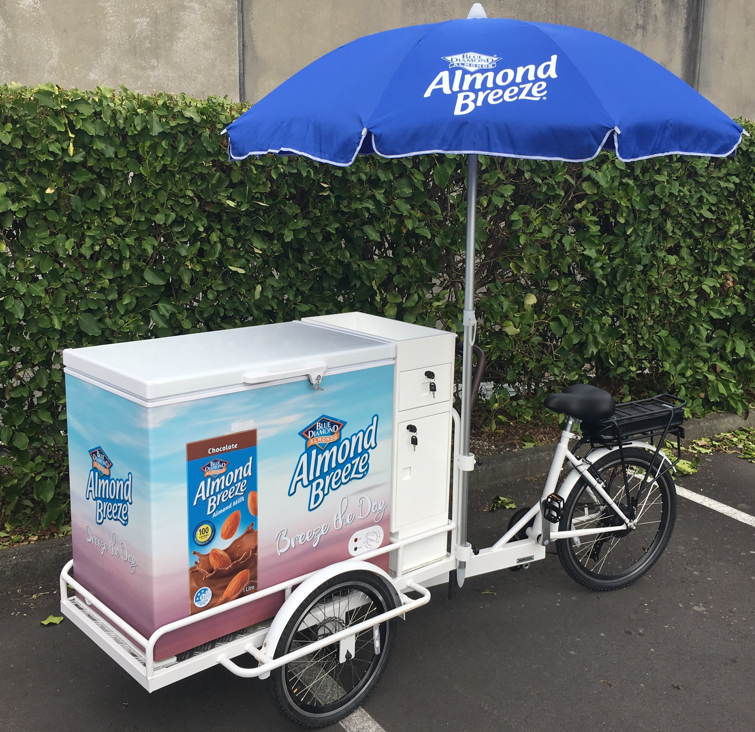 Almond Breeze Sampling Bike with Refrigeration