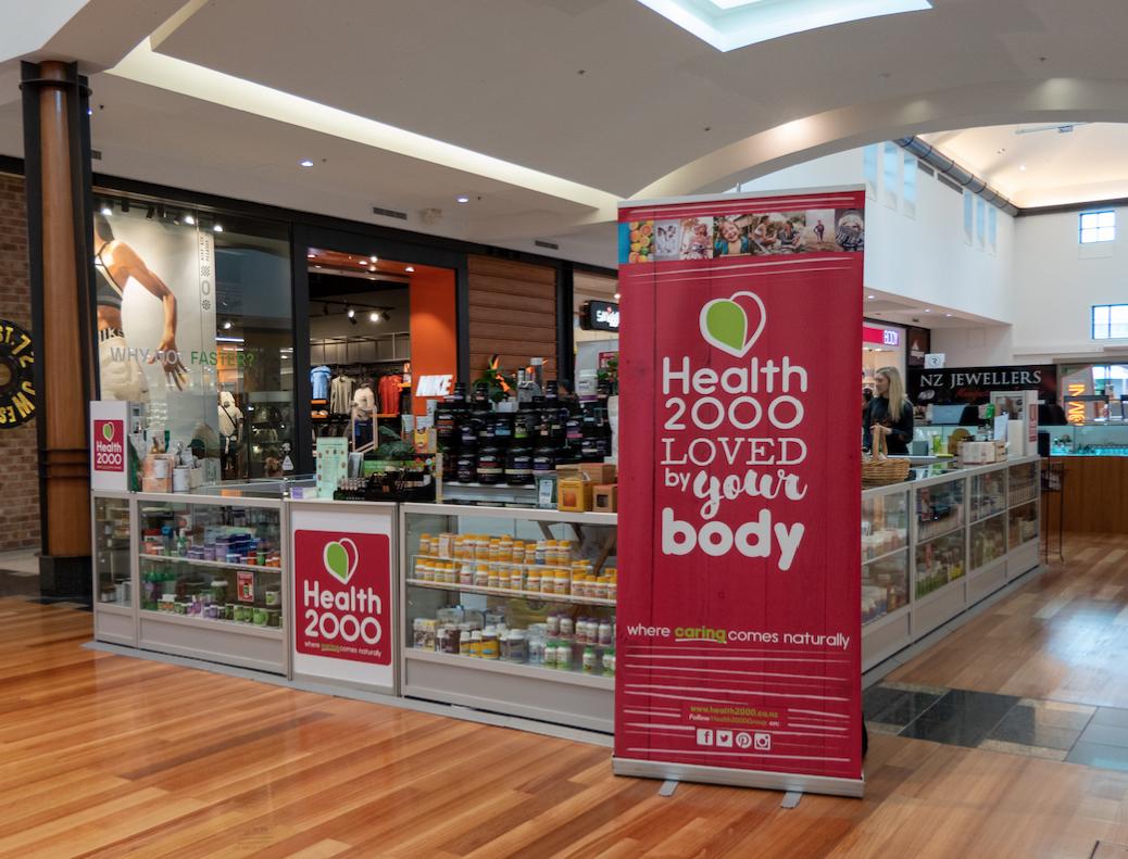 Health 2000 pop up shop at Botany Mall