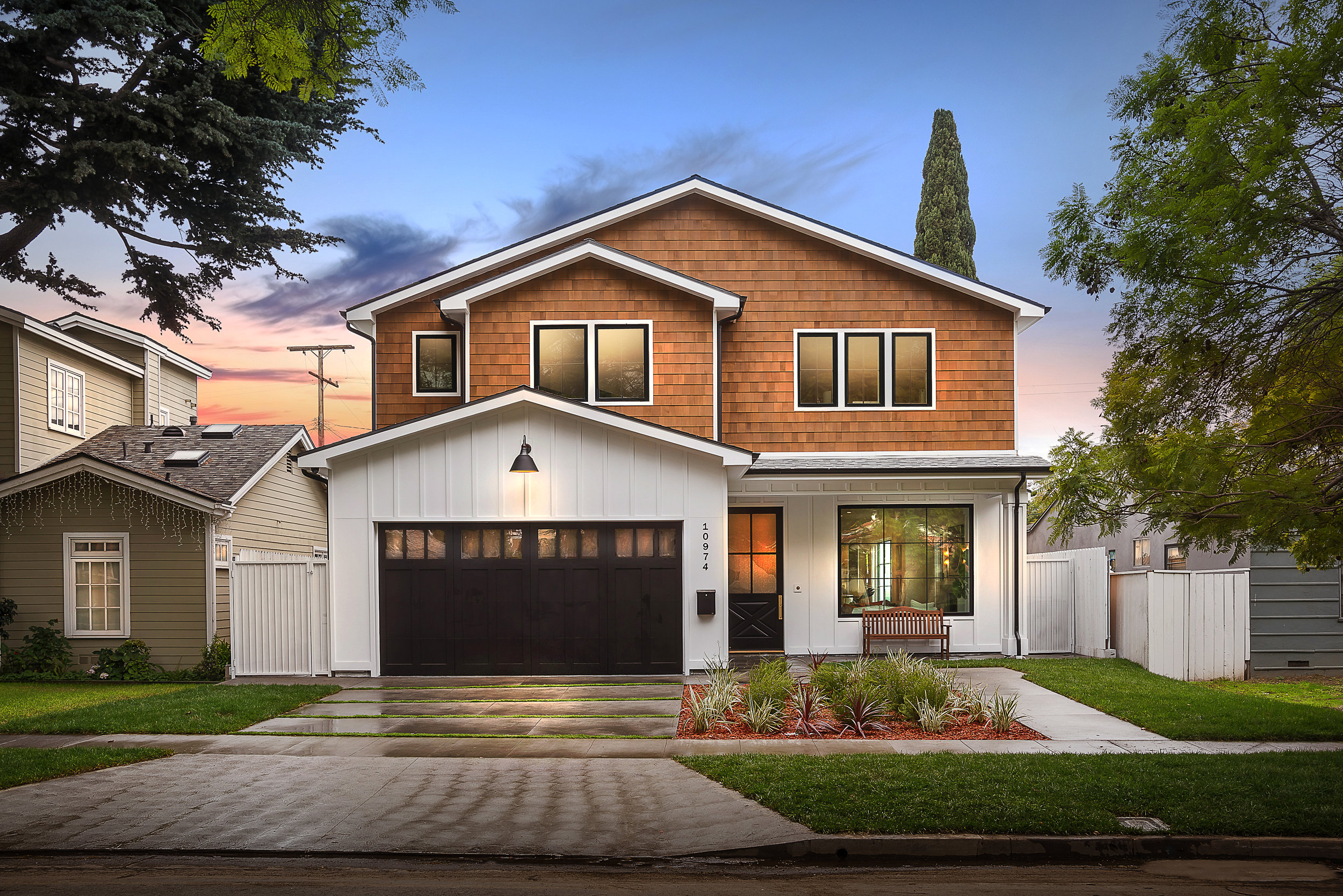 AYERS | CHEVIOT HILLS   Newly constructed & custom designed 5BR/6BA Cape Cod located in the heart of Rancho Park. High-end finishes, Control4 Smart home automation & stunning amenities. The formal living room w/ fireplace showcases indoor-outdoor living with light & airy open floor plan.