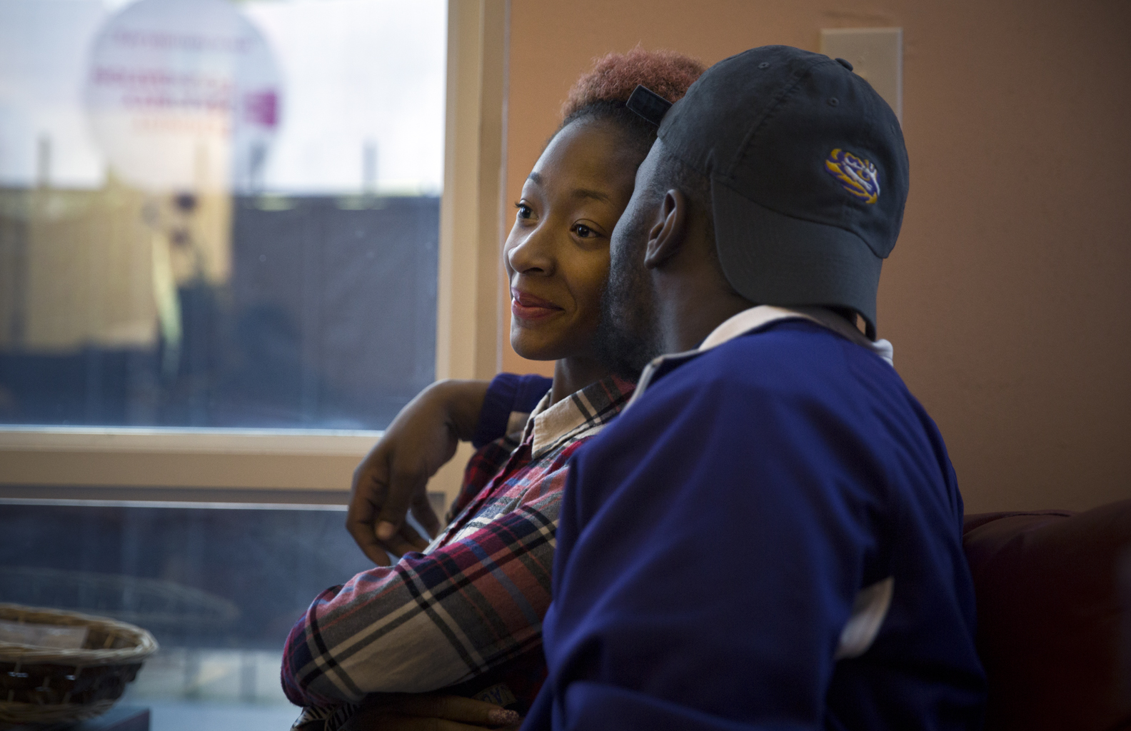Mikissa Oliver, 20, an accounting student at Jackson State University, is comforted by her boyfriend Terrance Smith, 24, a high-school history teacher, as they wait for her to be called back to take the abortion pill at Jackson Women's Health Organization. Mikissa chose to do a pill abortion which shewill do after she receives counseling and returns for a second visit to the clinic after a 24-hour mandatory waiting period.