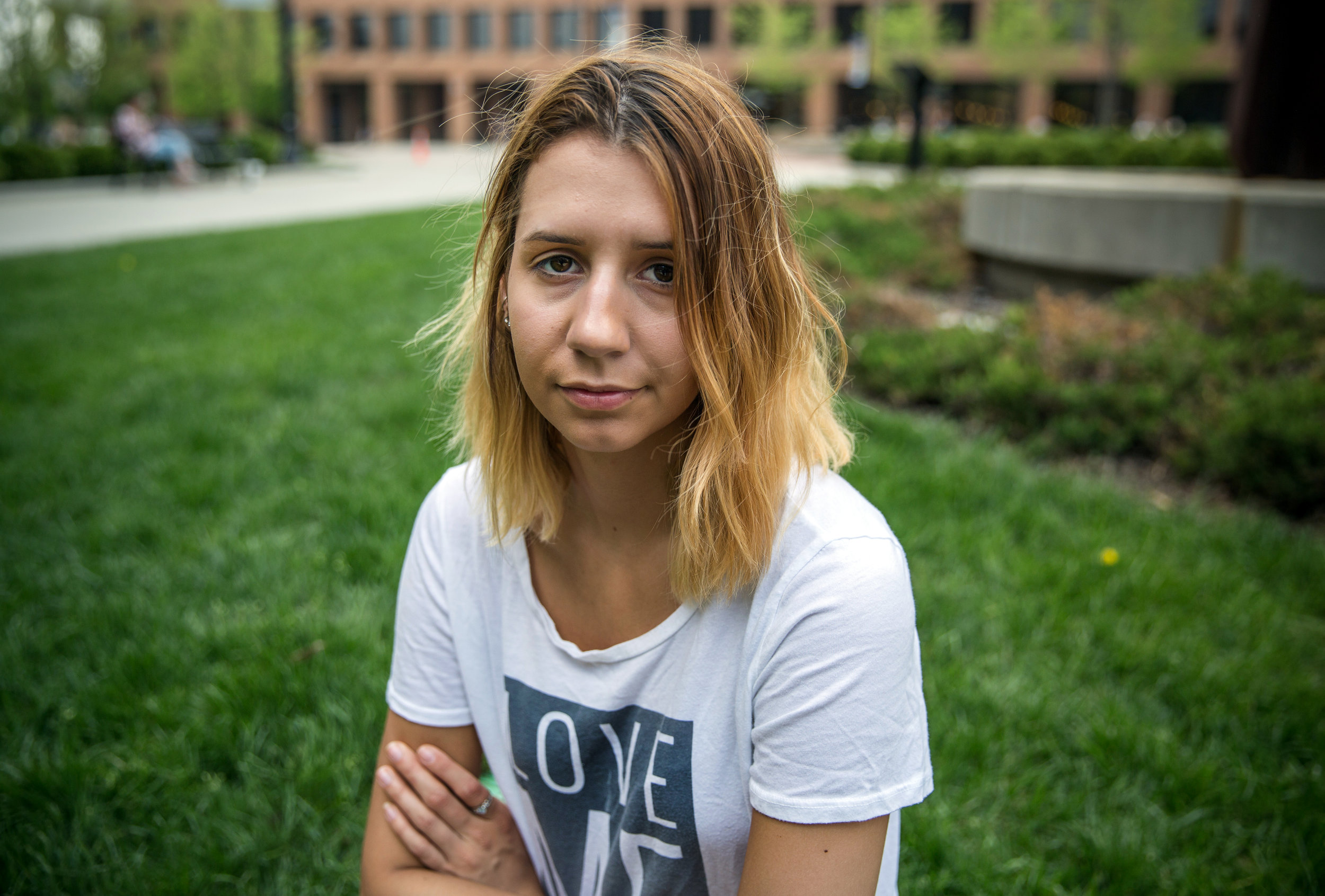 Katie MacPherson, 20, on campus at Kent State University in Ohio, was heading out with friends to a concert one evening when one of them attacked her in a car.