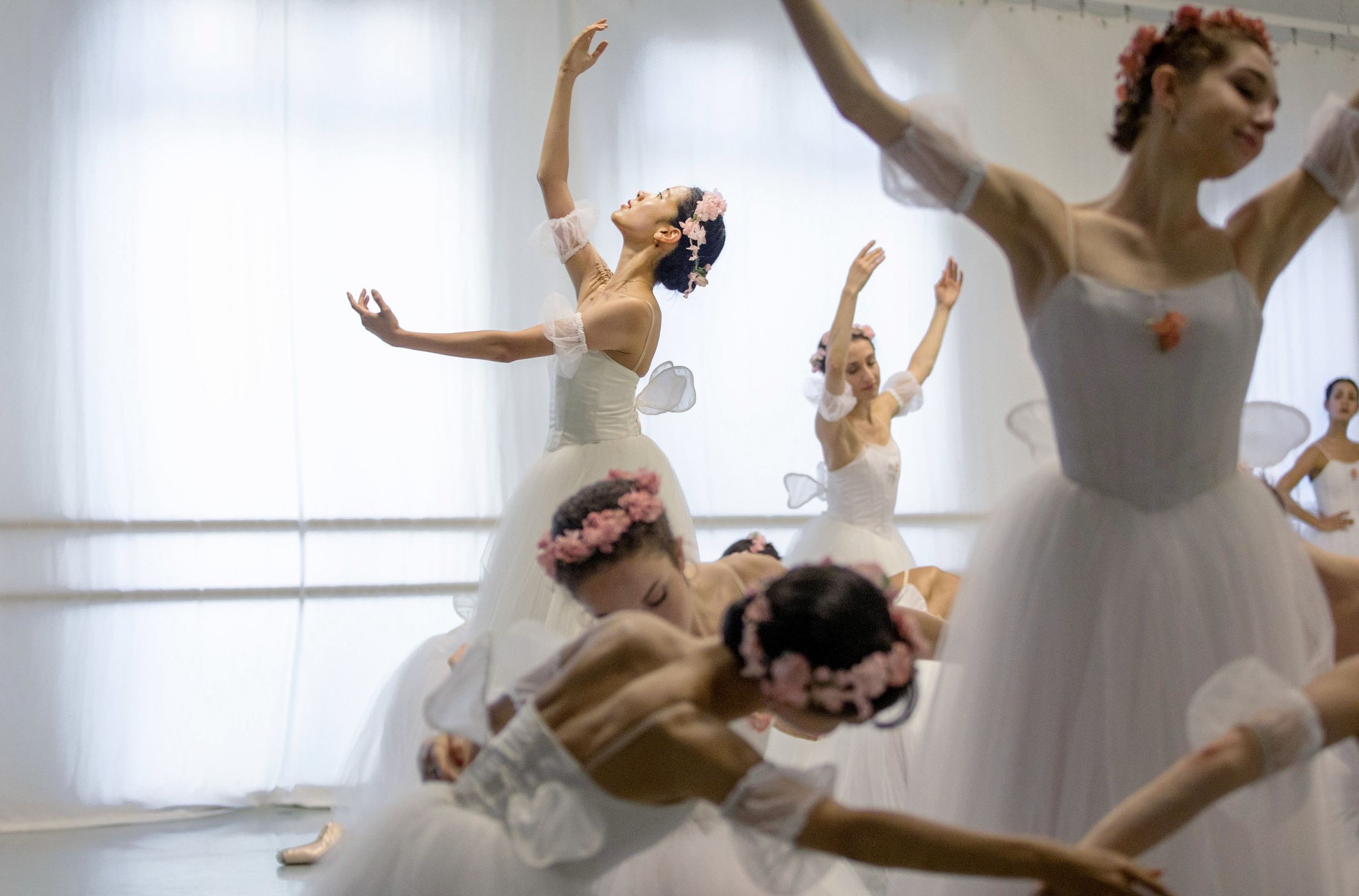 Eun Won Lee was South Korea's superstar ballerina. Now, she's given it up to try to make it in America, dancing with the Washington Ballet. She dances in a dress rehearsal of Les Sylphides before her performance at the Kennedy Center.