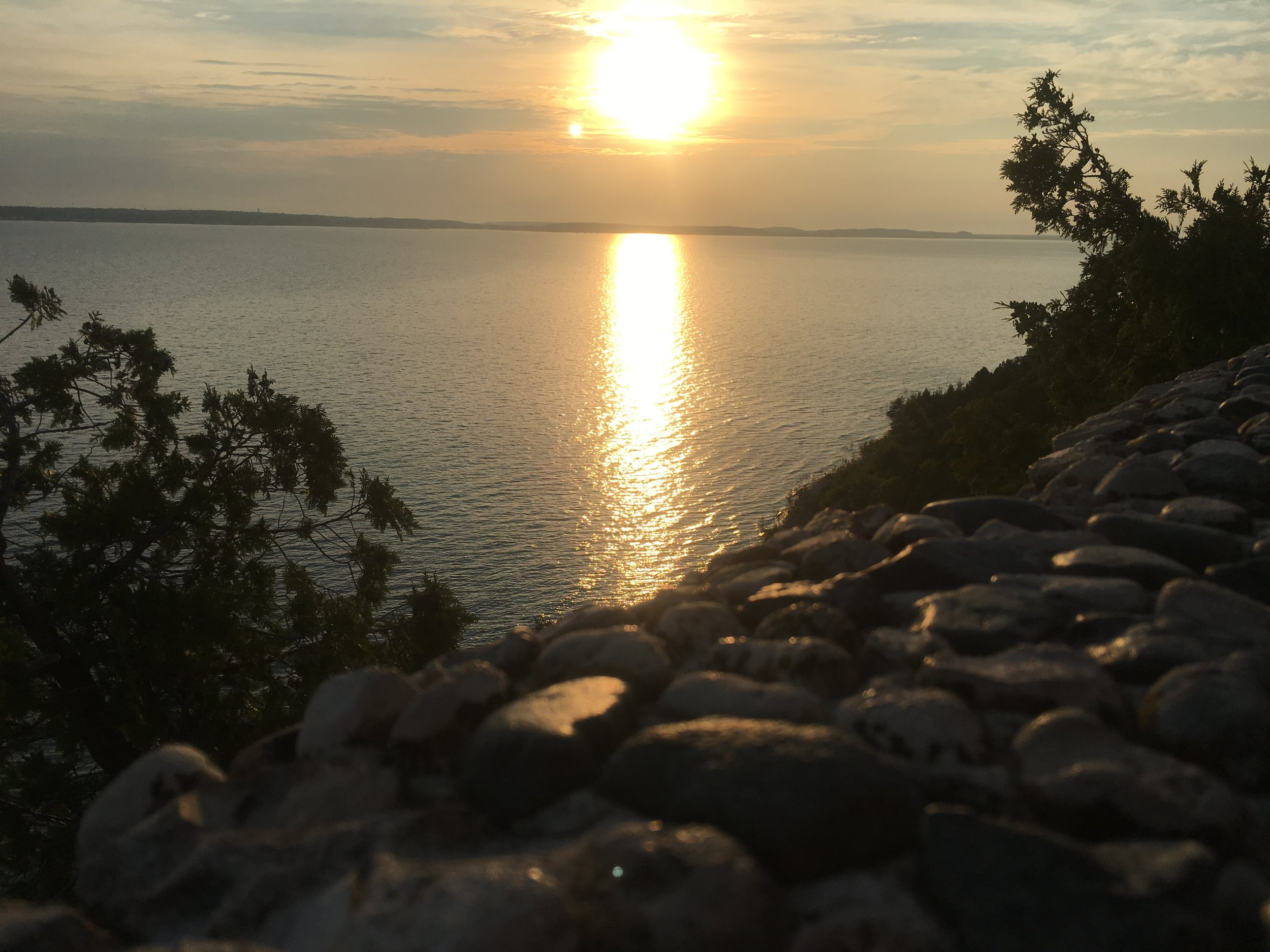 Sunset Rock Mackinac Island
