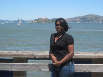My relaxed hair. This was taken in San Francisco around 2009 or 2010. At this point, I embraced a shorter hair cut.