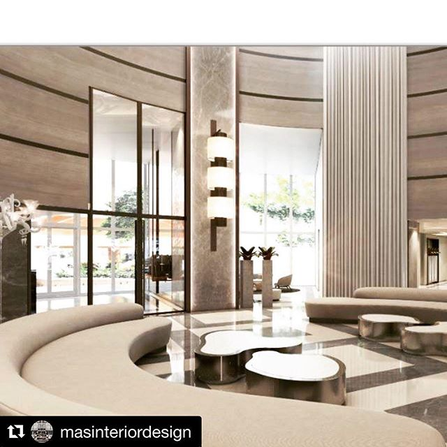 #Repost @masinteriordesign with @get_repost ・・・ Love my Portofino lobby !!! @visualizeusa @chconstructiongroup @robertcarpentry @thelightingstudious