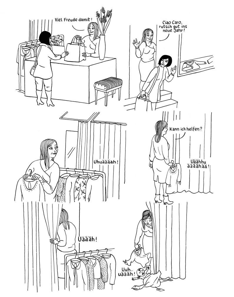 In der Umkleidekabine einer Modeboutique findet die Boutiquenbesitzerin Helen ein plärrendes Neugeborenes. Sie beschliesst, es heimlich zu behalten. Nicht einmal ihren Partner Paul weiht sie ein, der ist nämlich ganz froh, dass es mit dem Kinderkriegen nicht geklappt hat und schafft sich lieber einen Hund an.     Das Unbekannte  von Anna Sommer bei der Edition Moderne