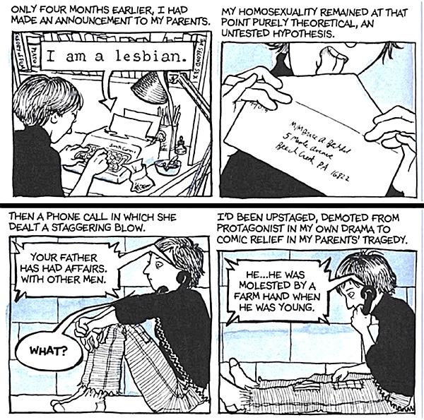 In Alison Bechdels Graphic Novel  Fun Home  haben ein Vater und seine Tochter zugleich ein Coming-out.