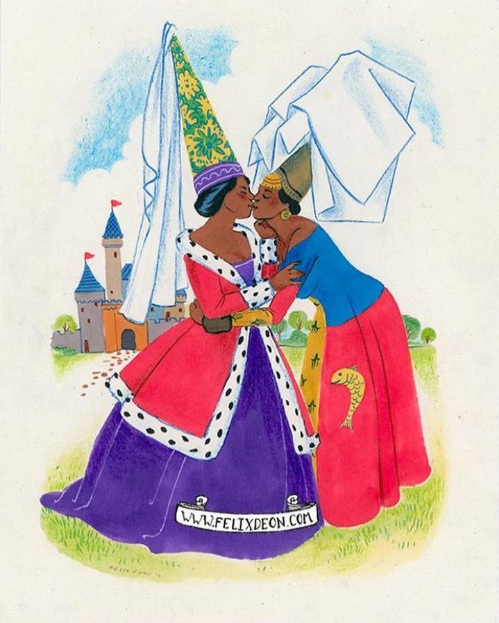 Wunderschöne Illustrationen im Retrostil zur Liebe, Sex und Zärtlichkeit.  Felix d'Eon.