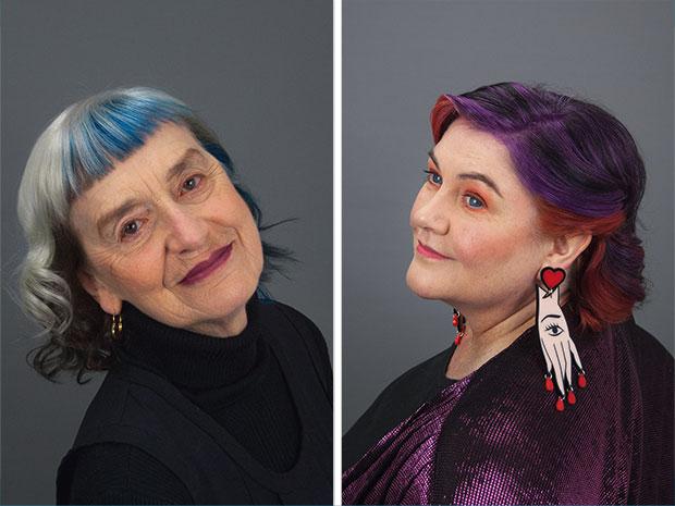 Tolles Projekt von zwei Australierinnen, Frauen jenseits der 50 bunte Haare zu machen. Von wegen Unsichtbarkeit ab einem bestimmten Alter, ha! Kleiner Artikel bei dem Magazin Frankie:  The Invisible Women