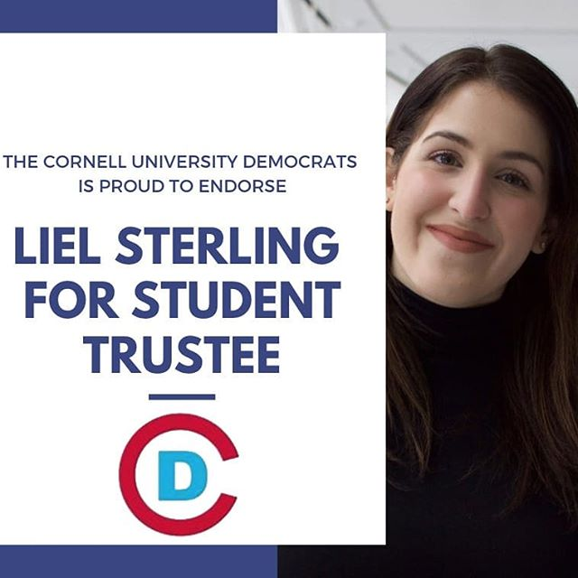 The Cornell Democrats is excited to announce our endorsements for the upcoming student government elections. We believe that these candidates exemplify the progressive values we fight for as an organization