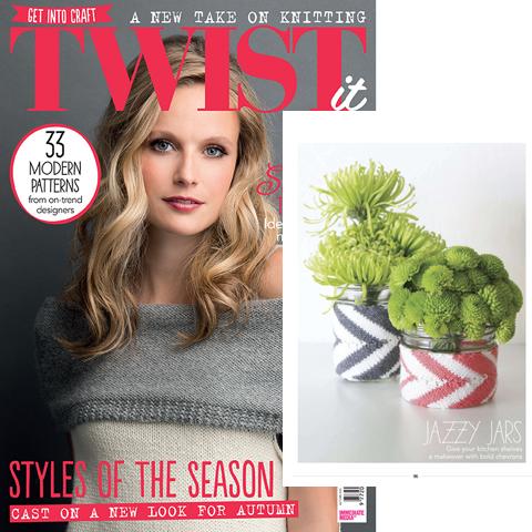 Twist It Magazine Chevron Jar Cozy