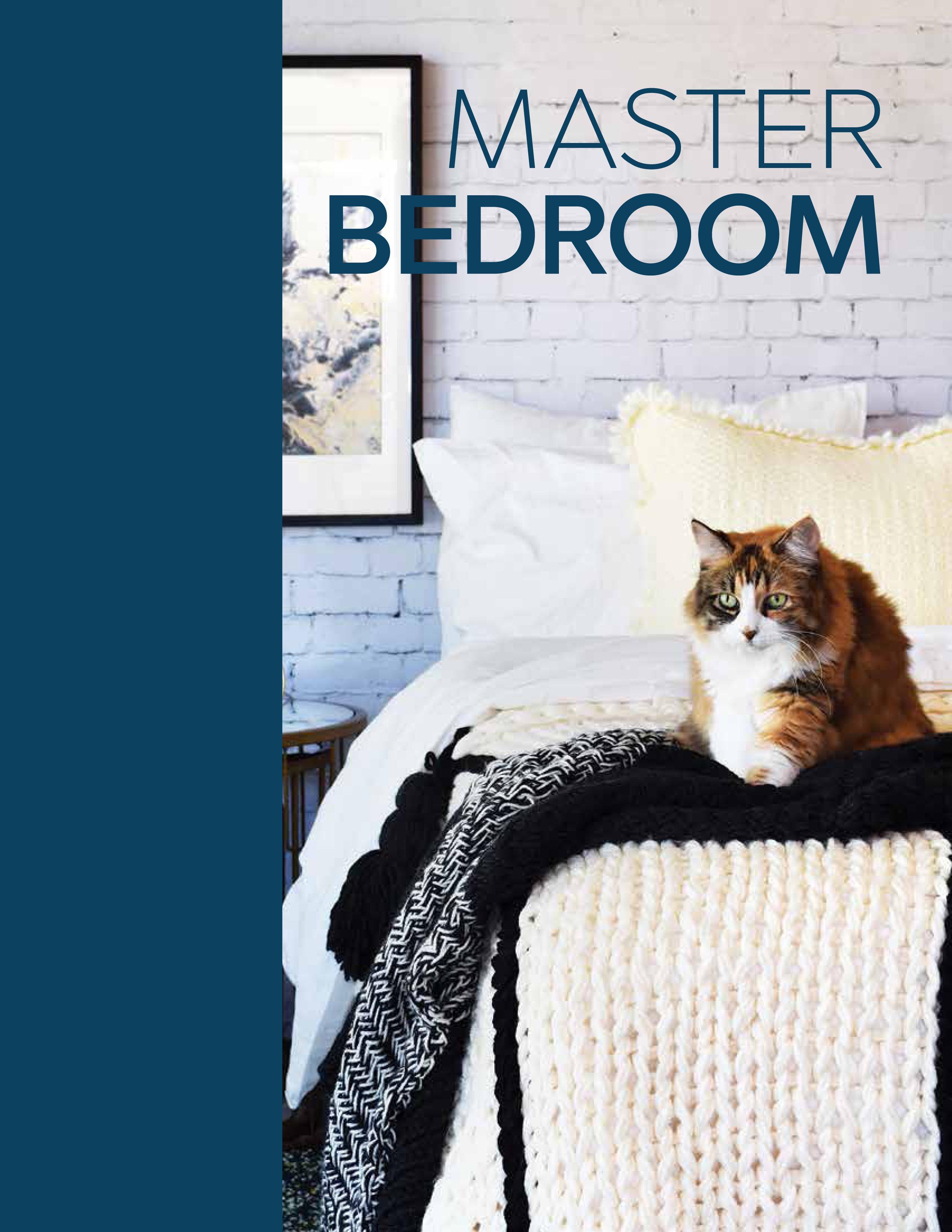 Master Bedroom - Pinstripe BlanketHerringbone Throw BlanketLinen Stitch Pillowcase