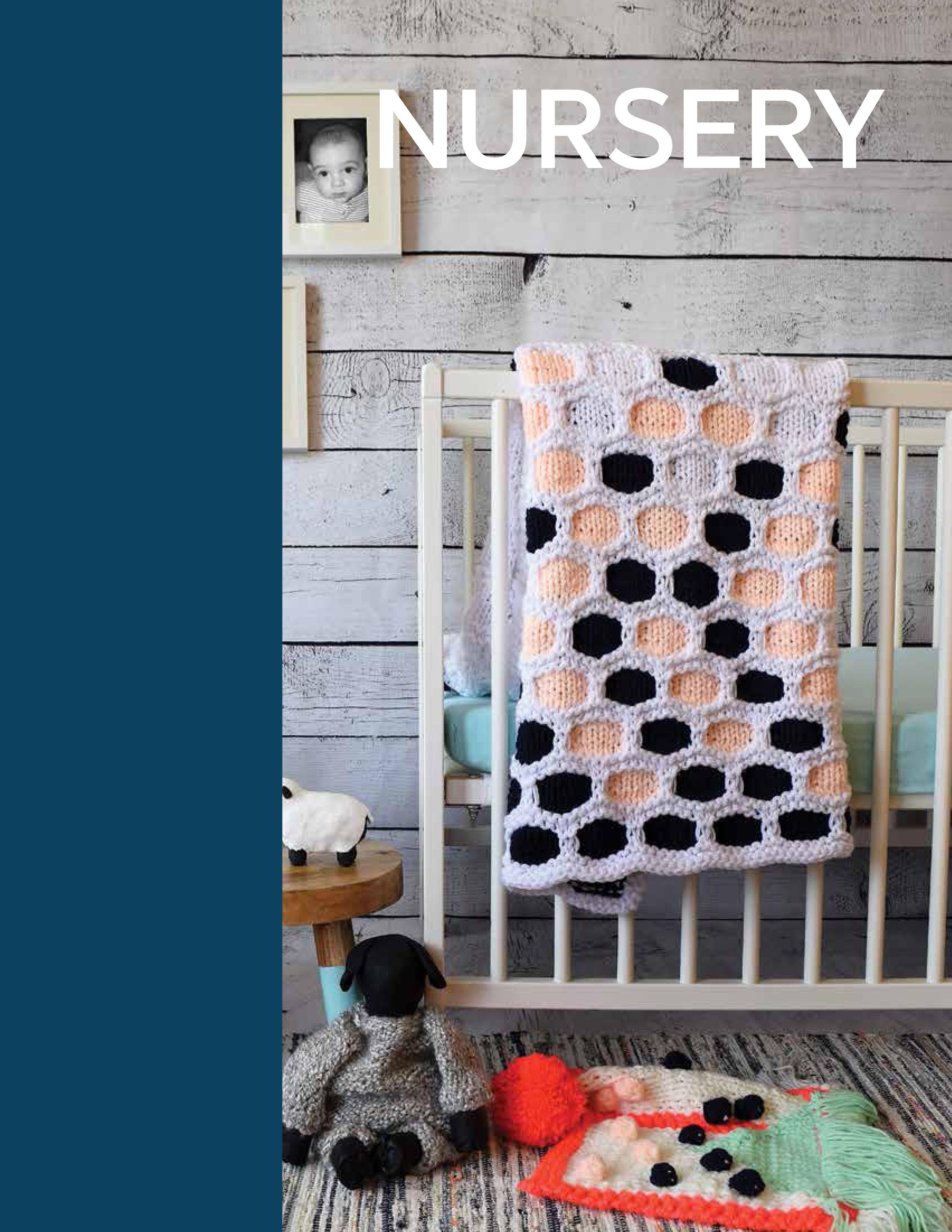 Nursery - Hexagon Throw BlanketTriangle Baby BlanketTextural Lovie