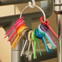 There are 25 color options for braces' brackets. G&E clients customize two colors per visit.