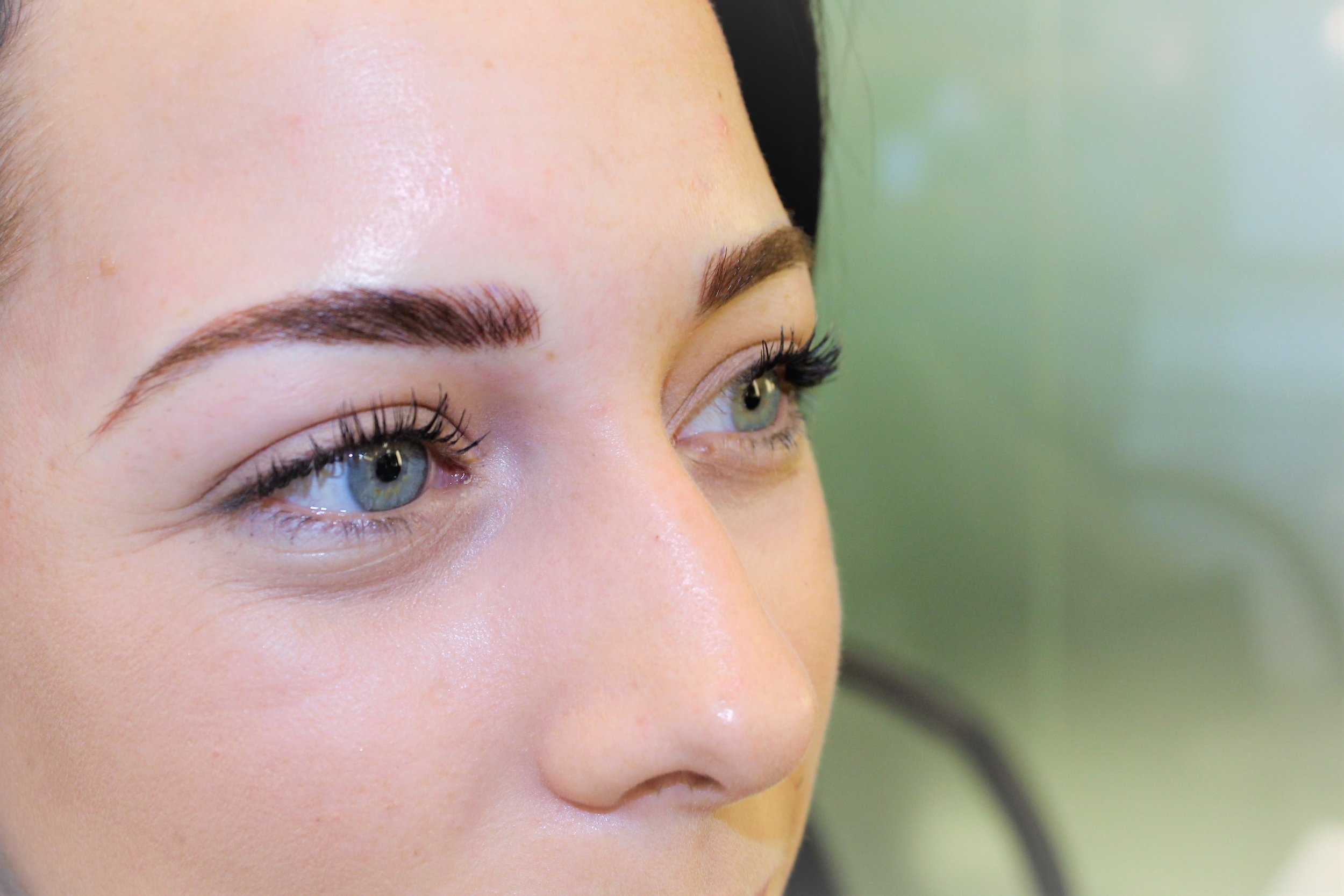 After microblading!