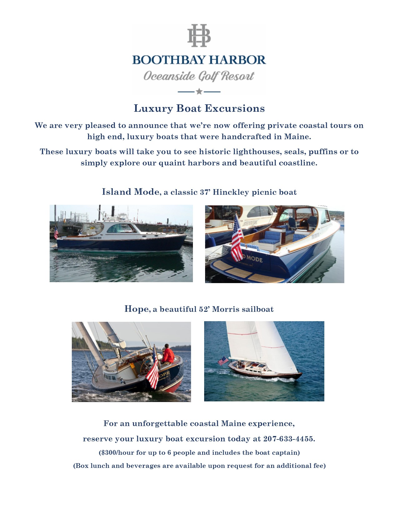 New Luxury Boat Excursions