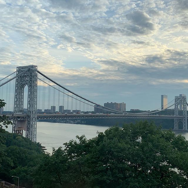 Recognize this bridge? #connection  #newyorkcity #hudsonriver #heavyacoustic