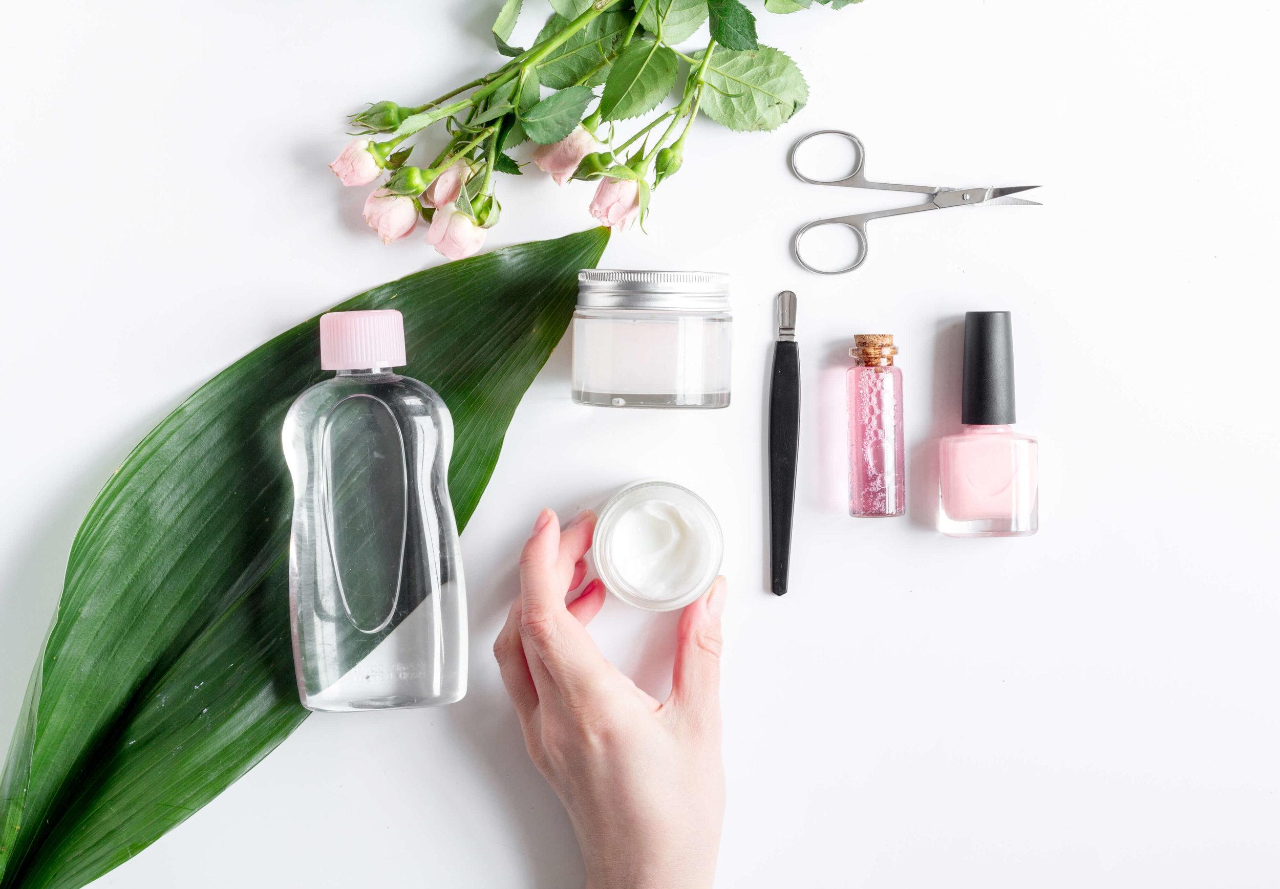 beauty cosmetic jars transfers rub down color vu