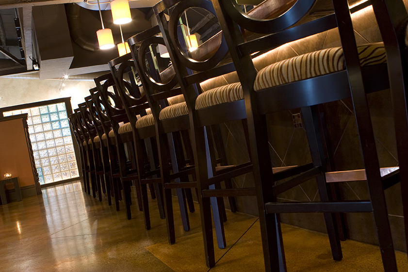 Commercial Restaurant and Lounge Design Project | Chico, CA | Bar Stools