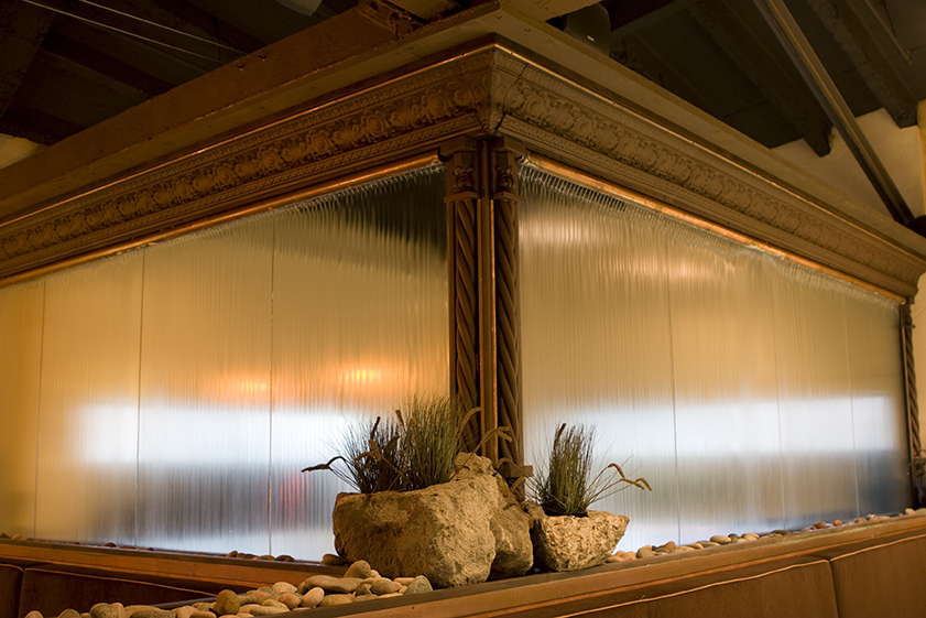 Commercial Restaurant and Lounge Design Project | Chico, CA | Glass Feature