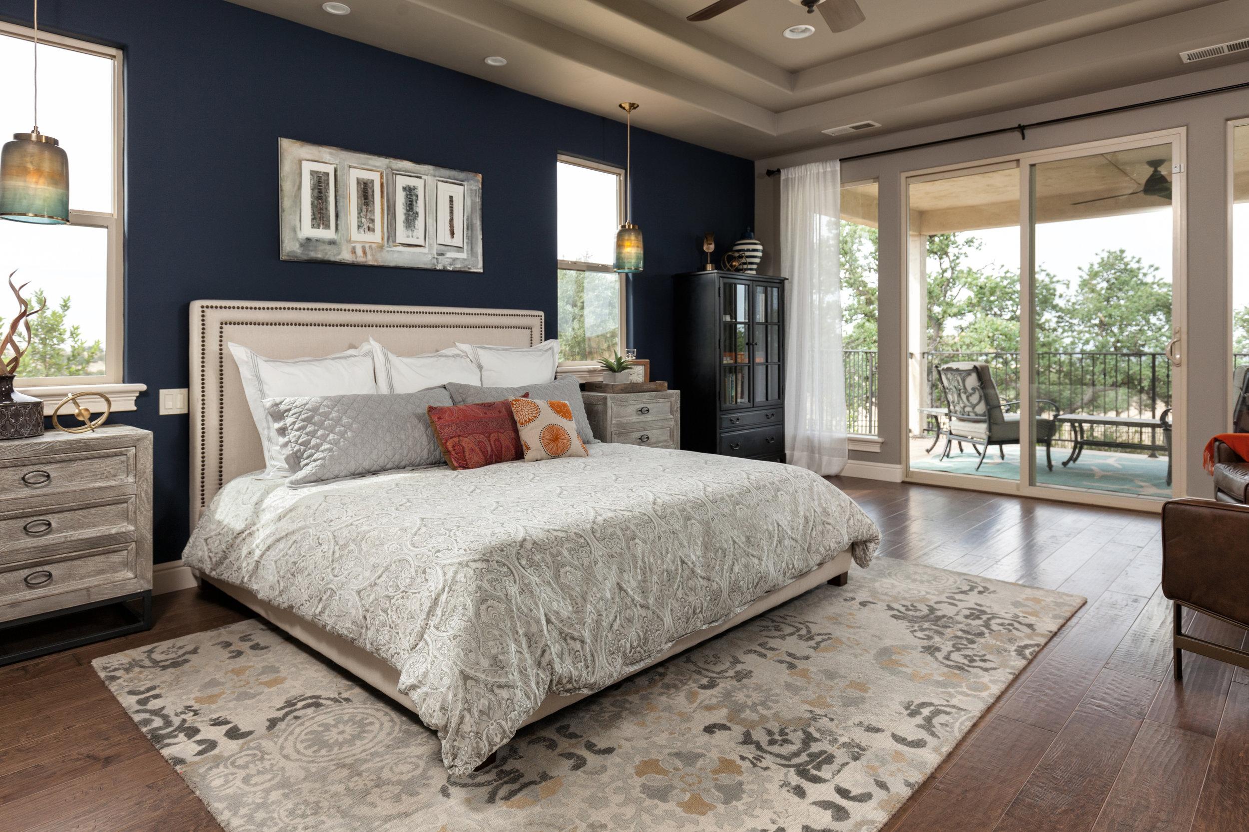 Summit Ridge Residence Master Bedroom Design