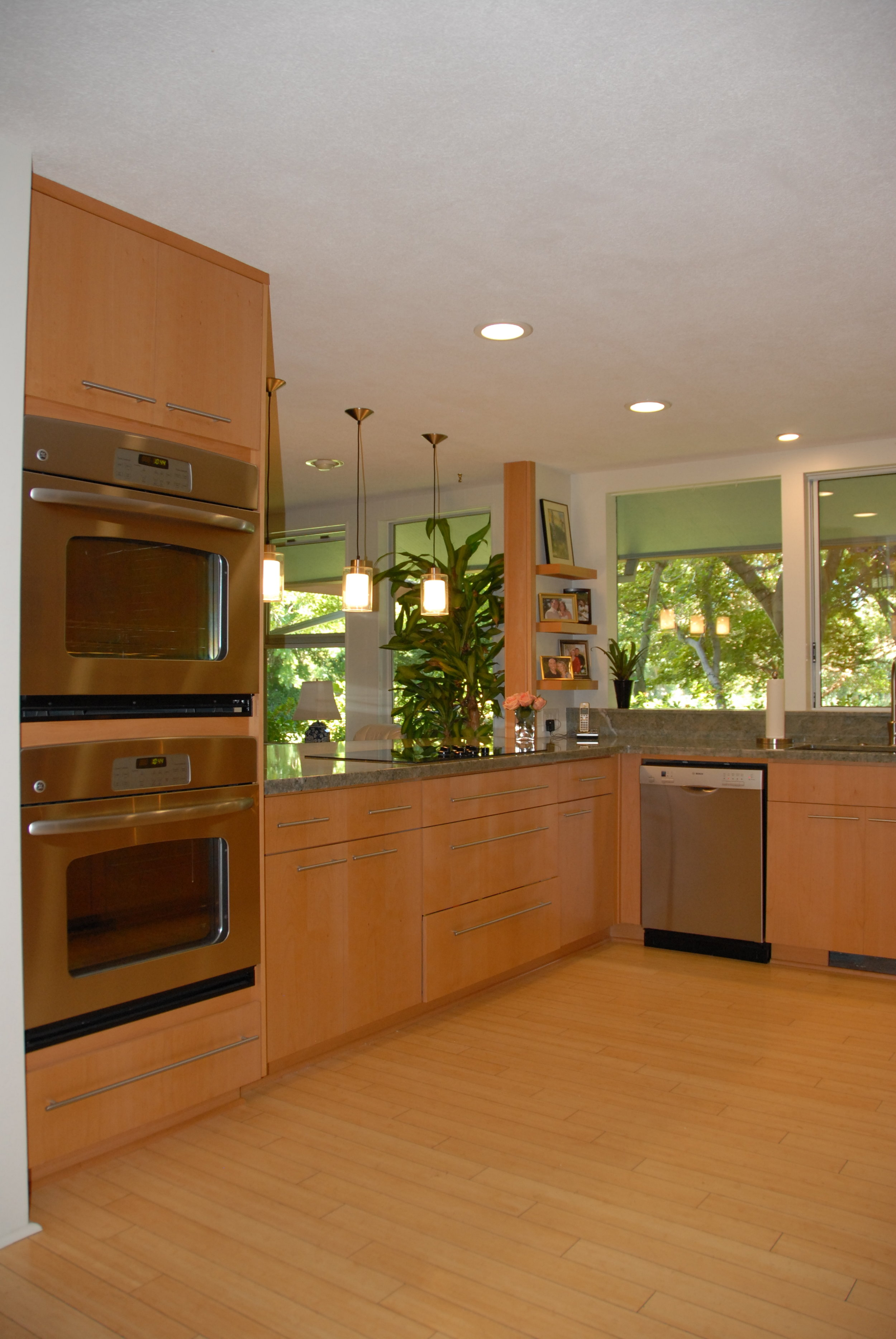 MId Century Kitchen Remodel Design with Stainless Steel Appliances in Chico, CA
