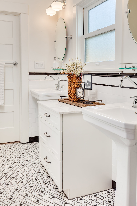 West Frances Willard 1920 S Style Bathroom Restoration Lori K Design Studio Chico Ca