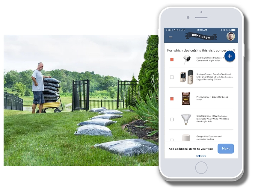 Home and Tech - Further blending the manual and technical home improvement projects, subscribers can also add Lowe's items to be delivered during their Home Crew visit. This saves subscribers a bit of time and creates a new revenue stream for Lowe's.