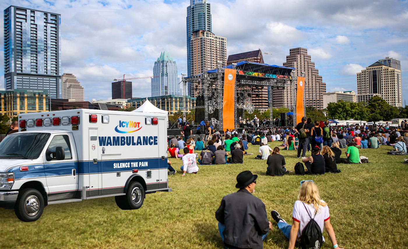 Wambulance - This mobile truck will hand out IcyHot at music festivals, tough mudders, intramural sports, and other minor-pain-inducing events.