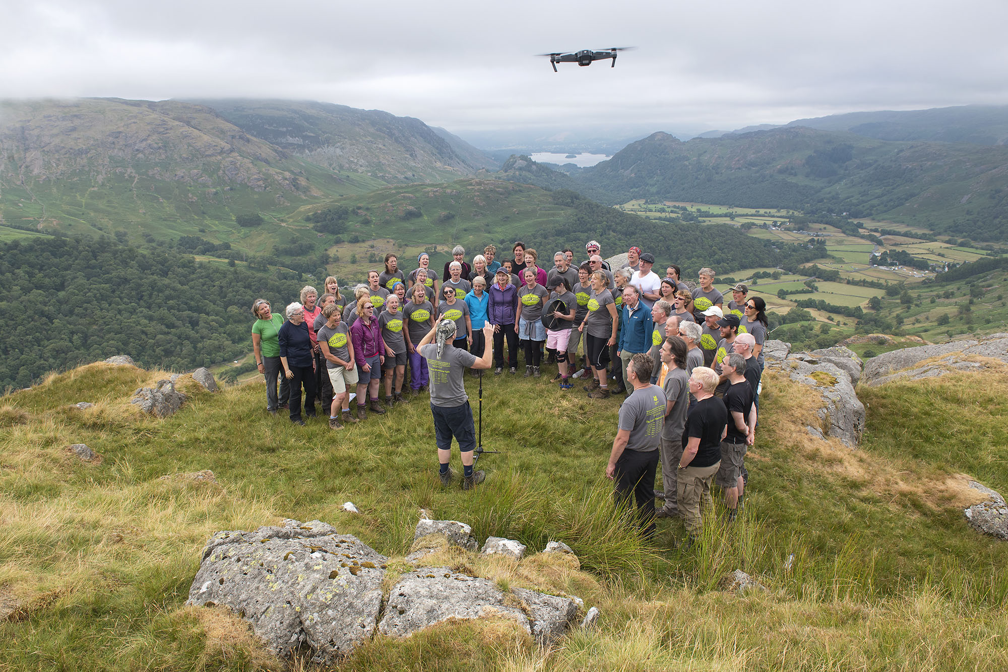 Singing on Thornythwaite Fell with Drone 2 ds.jpg
