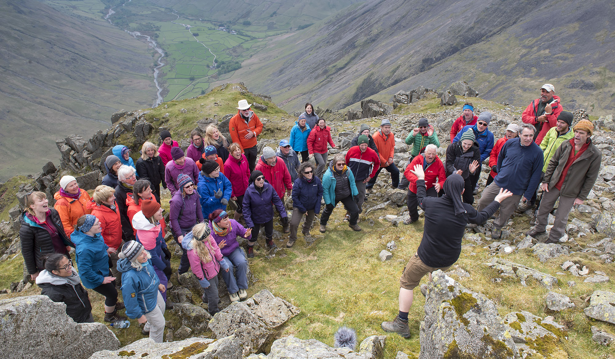 Singing on Great Gable Above Wasdale 2 ds.jpg