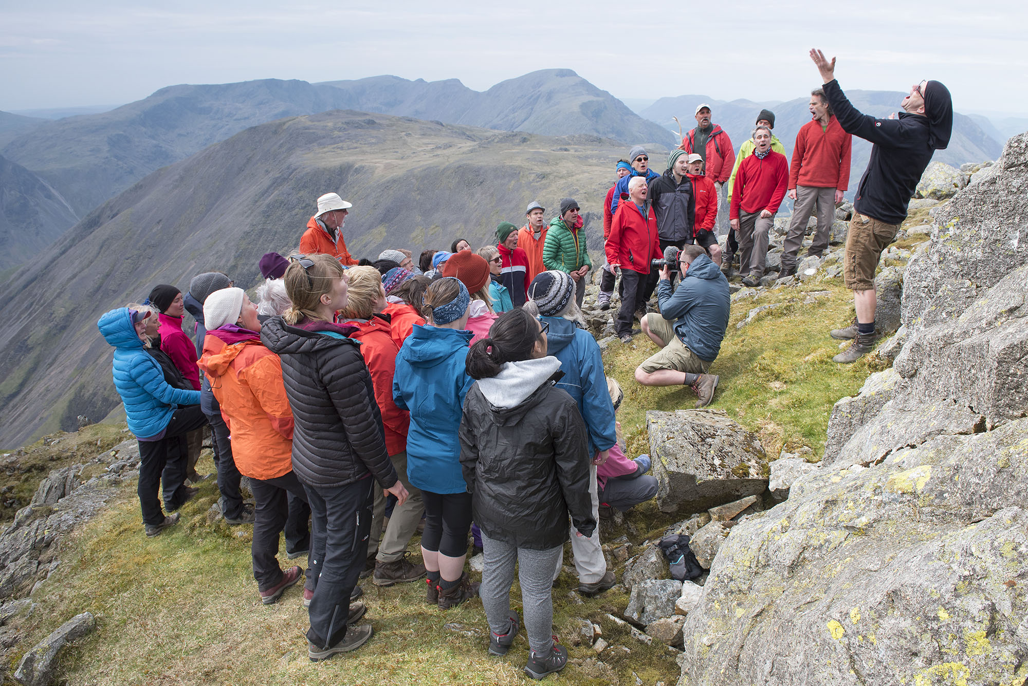 Singing on Great Gable, Pillar in the Background 2 ds.jpg
