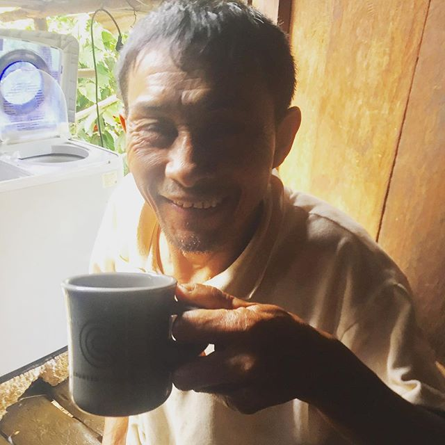 Not the best photo but this moment is my favorite. Since we started this journey My father in law has been a big coffee enthusiast with us, he loves trying specialty coffees from around the world and wants to get better and better at tasting. Well today he got to taste his OWN coffee for the first time....he was so surprised, happy, proud at how good it was. He can't wait for others to try it. This is why we do Auxano Coffee!