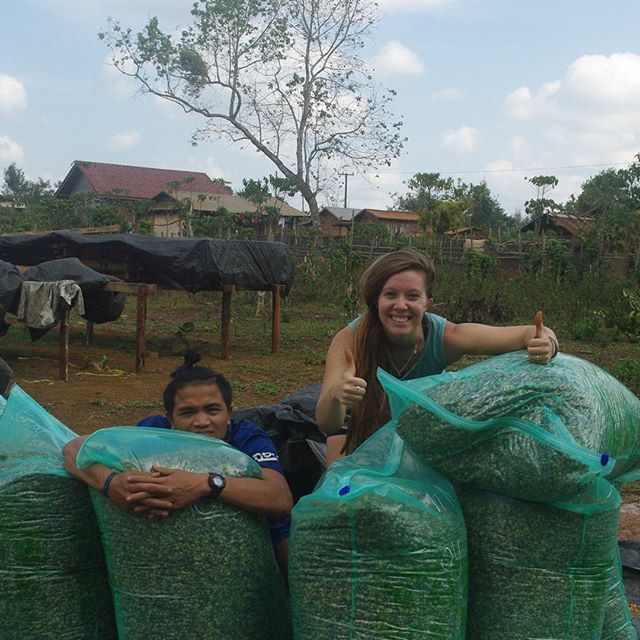 With love from Laos, so ready to ship this off to be brewed and enjoyed in the states :)
