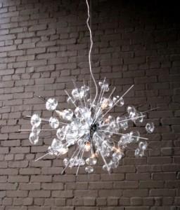 Bubbles glass chandelier