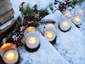 Xmas-Outside-candle-lights