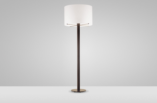Holly Hunt Bronze Column Floor Lamp