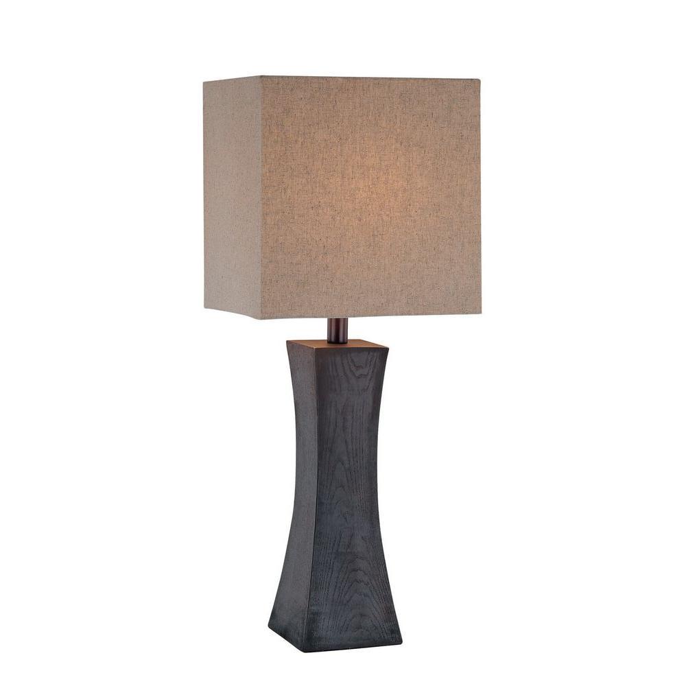 Illumine Dark Walnut Table Lamp ~$111