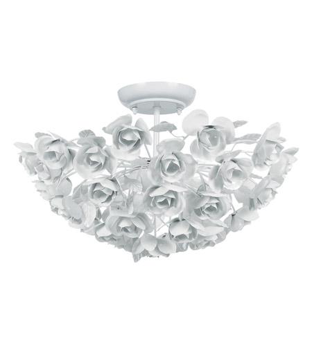 White Semi-Flush Ceiling Light ~$229