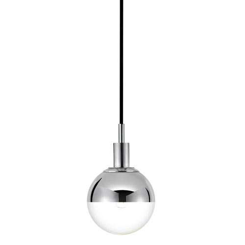 Orb 1 Pendant Light, Mercury Glass $280