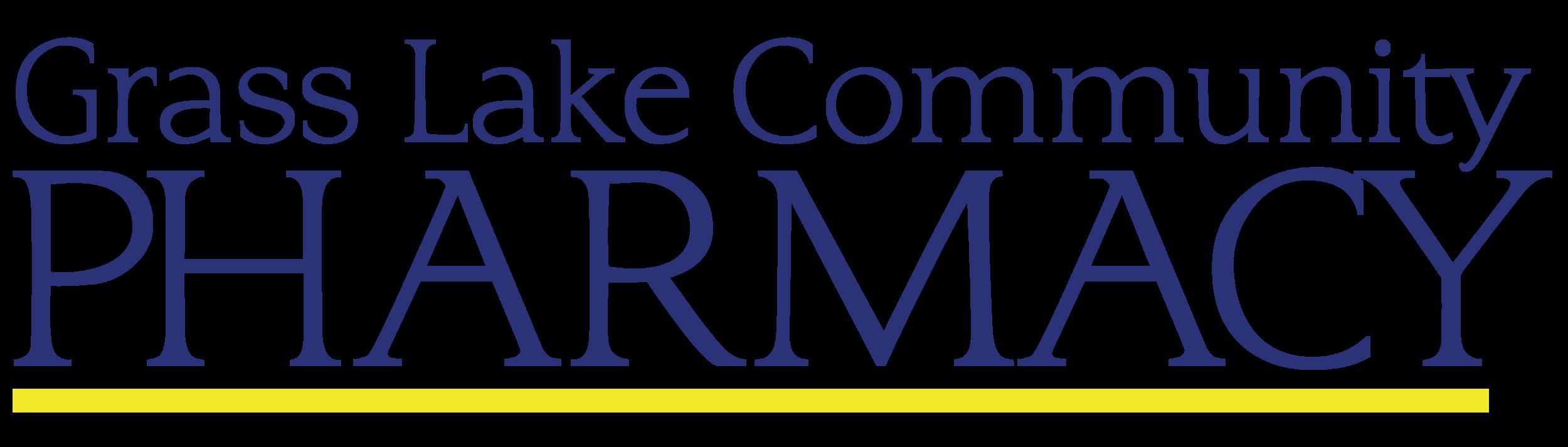 grass lake community pharmacy logo