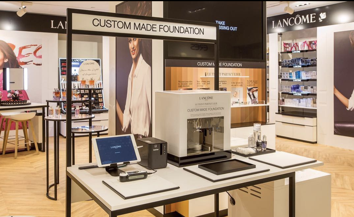 Lancome custom foundation station